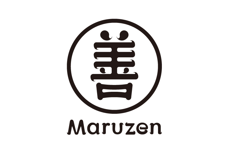 「善」という漢字を和の趣からモダンなテイストでデザイン。